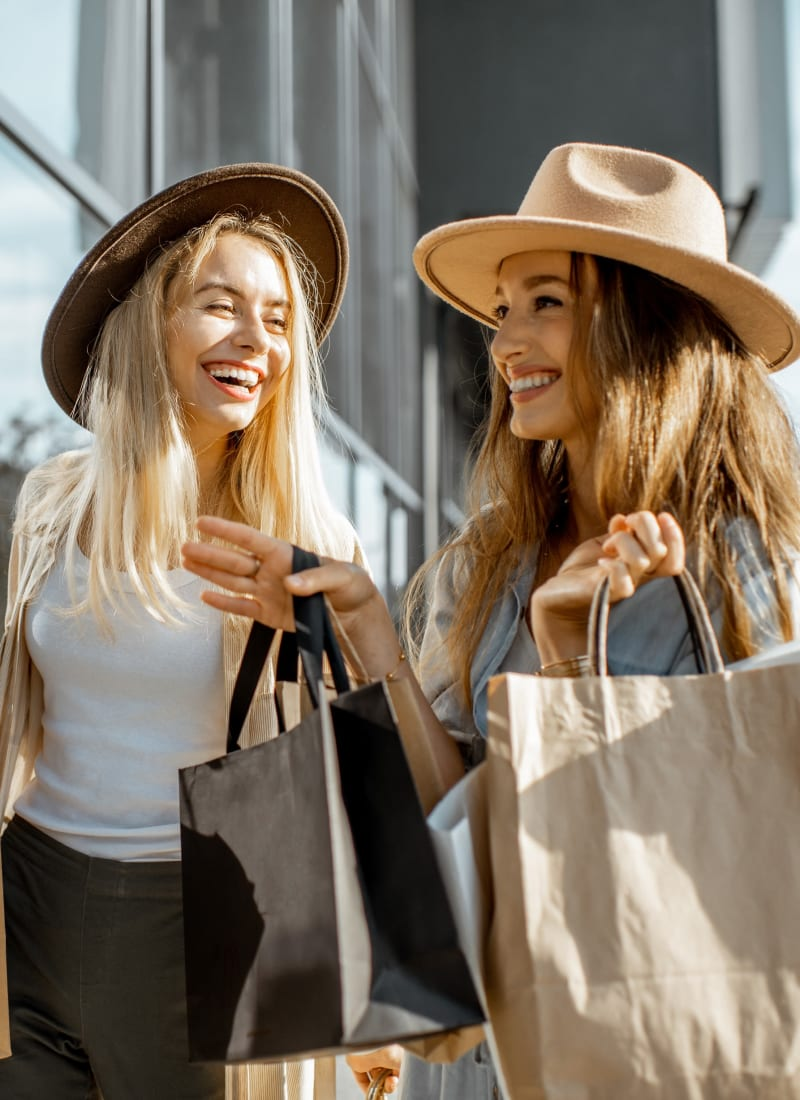 Friends shopping near Flower Mound, Texas from Marquis at Lantana