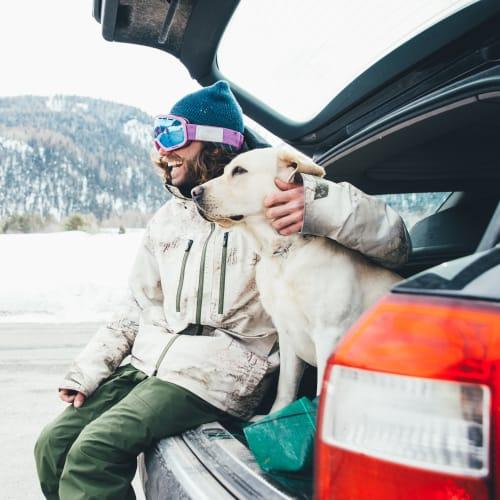 Happy pup on an adventure near Mountain Trail in Flagstaff, Arizona