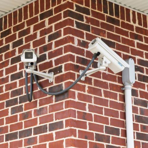 24-hour surveillance cameras at Red Dot Storage in Huntsville, Alabama