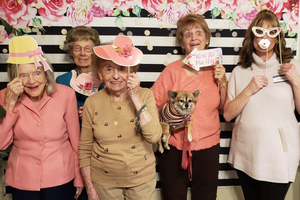 group of senior residents celebrating