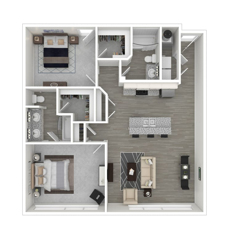Unit 204 floor plan at lCallio Propertiesin Chattanooga, Tennessee