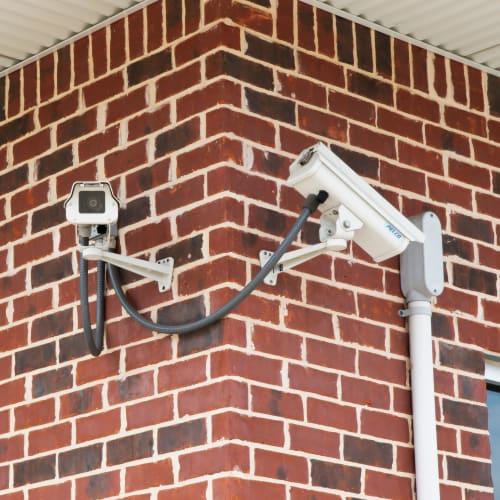 24-hour surveillance cameras at Red Dot Storage in Trenton, Michigan