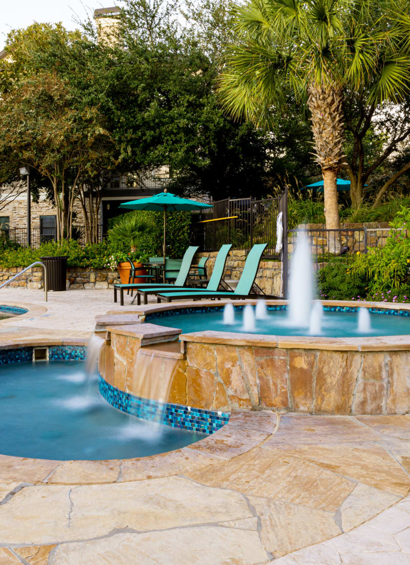 Water feature at Marquis Parkside in Austin, Texas