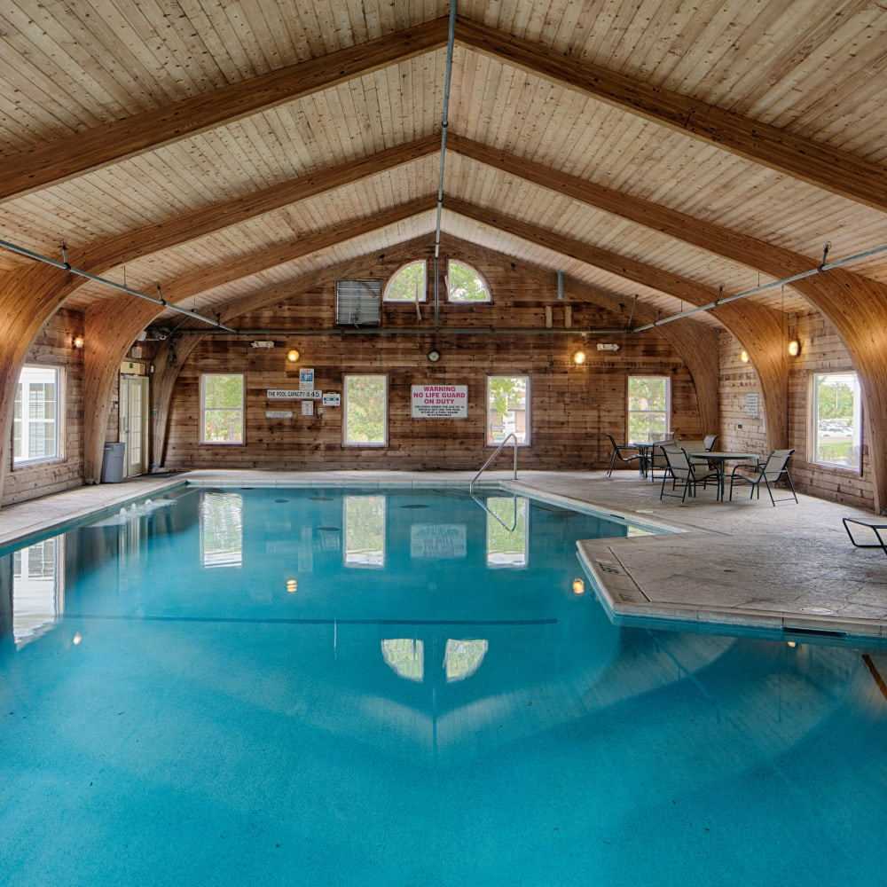 Beautifully architected indoor swimming pool at Oxford Hills in St. Louis, Missouri
