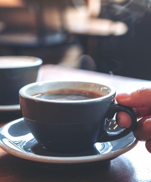 Beautifully presented latte at a café near Alicante Apartment Homes in Aliso Viejo, California