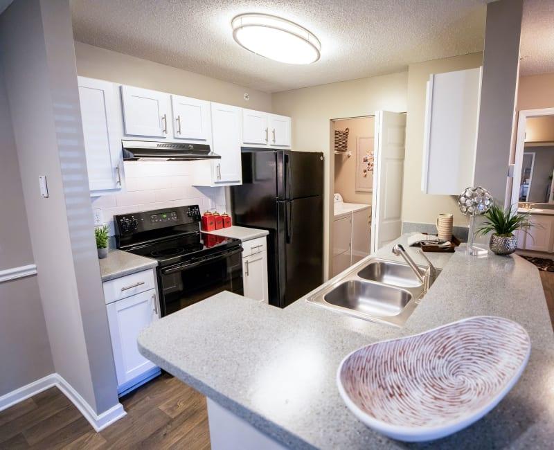 A beautiful kitchen in a model home at 200 Braehill in Winston-Salem, North Carolina