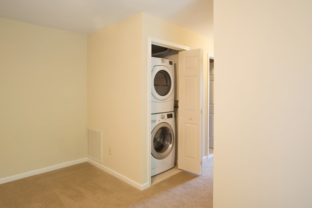 Full size washer & dryer in every apartment at Glenmont Manor in Glenmont