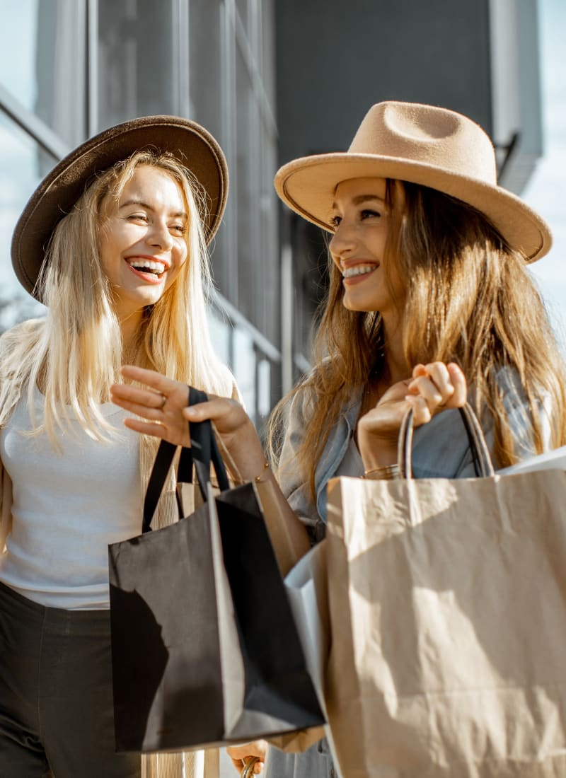 Residents out shopping near Marquis at Silver Oaks in Grapevine, Texas