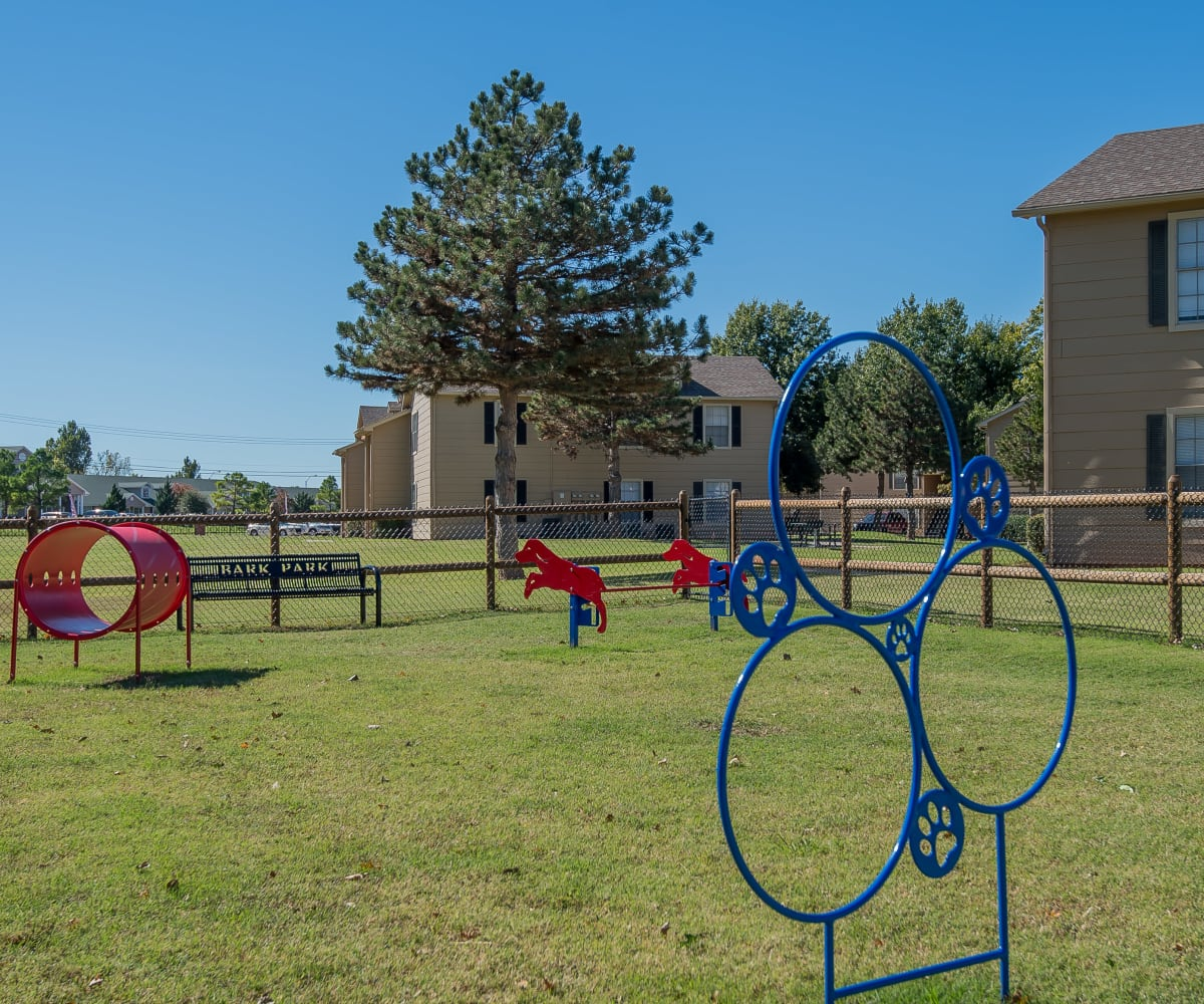 Dog park at Tammaron Village Apartments in Oklahoma City, Oklahoma
