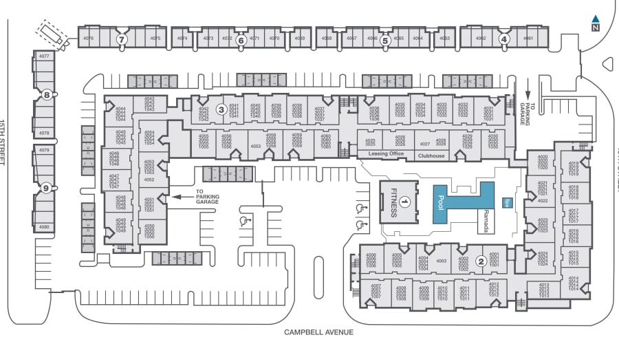 Level at Sixteenth site plan