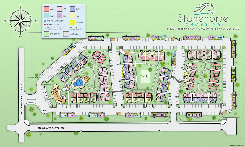 Site map of Stonehorse Crossing Apartments in Oklahoma City, Oklahoma