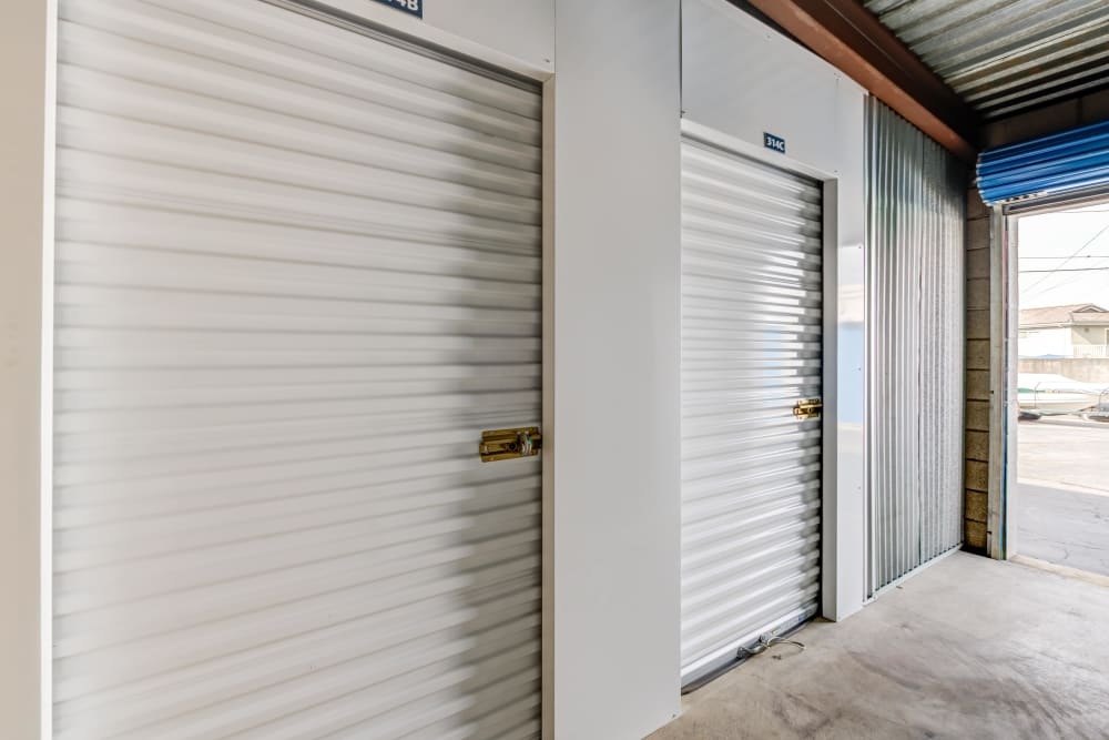 Interior storage units at Storage Etc... Diamond Bar in Diamond Bar, CA