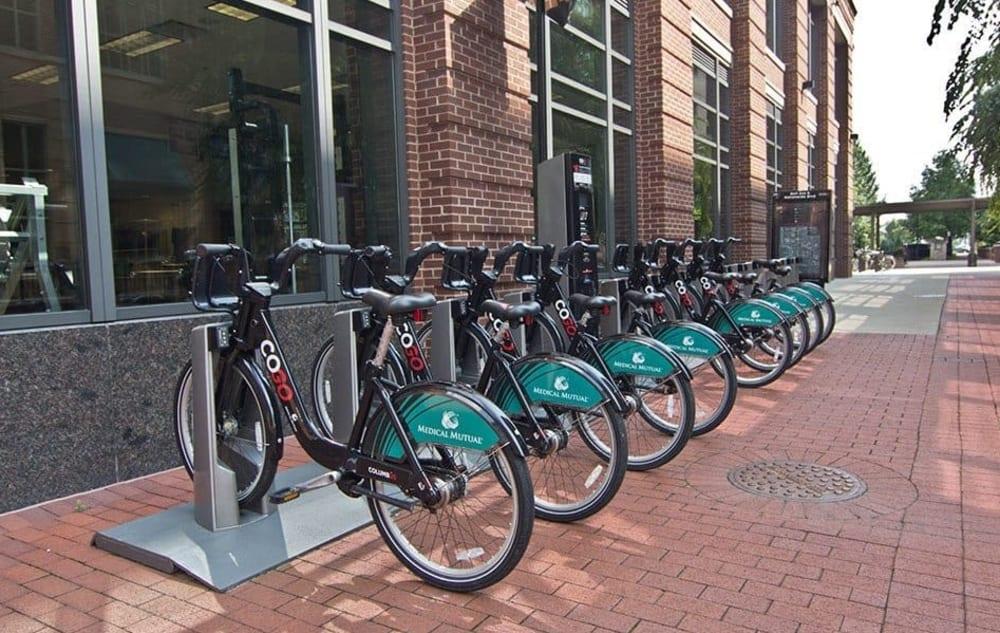 Bike share near Easton Commons in Columbus, Ohio
