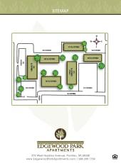 Site map of Edgewood Park Apartments in Pontiac, Michigan