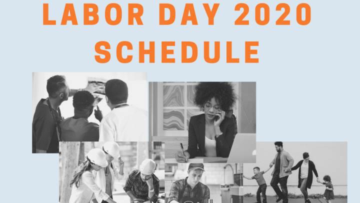 Men and Women Working - Labor Day Schedule