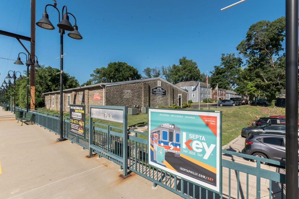 Walking distance to septa station in Elkins Park, PA
