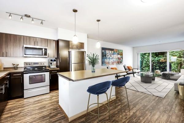 Spacious kitchens offered at Trillium Apartments in Edmonds, Washington