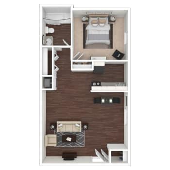 Hunter II floor plan at Callio Properties in Chattanooga, Tennessee