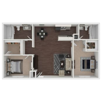 Hunter III floor plan at Callio Properties in Chattanooga, Tennessee