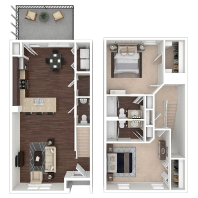 Inglewood floor plan at Callio Properties in Chattanooga, Tennessee