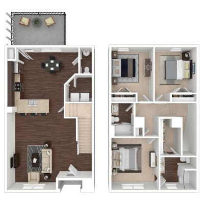 Sedgewick floor plan at Callio Properties in Chattanooga, Tennessee