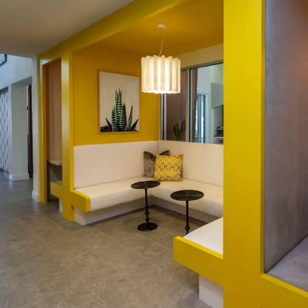 Inside resident clubhouse at 50 Paramount in Sarasota, Florida
