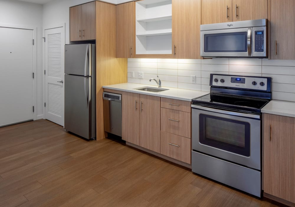 Bright, spacious kitchen at Overlook Park in Portland, Oregon