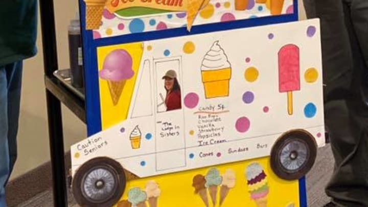 Homemade Ice Cream Cart Visits Residents at The Lodge