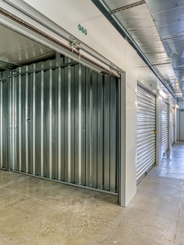 Inside of a climate-controlled unit in Wyoming, Michigan at Devon Self Storage