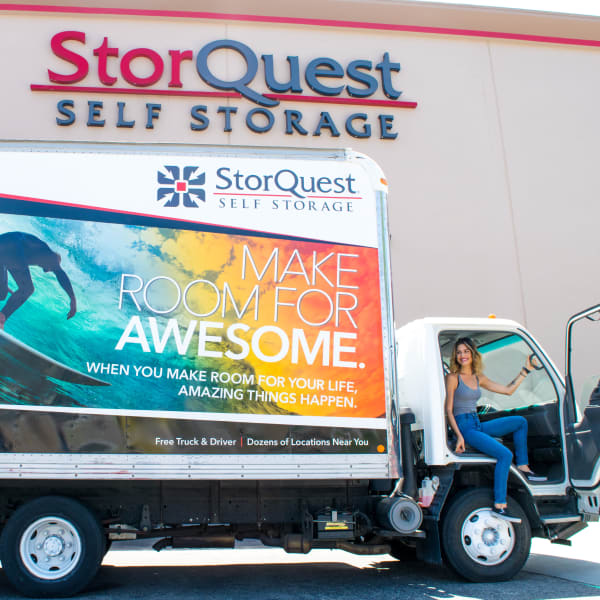 Moving truck available at StorQuest Self Storage in Richmond, California