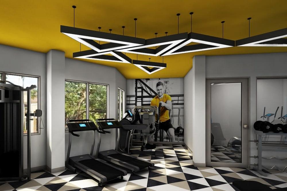 Rendering of Steelyard's fitness center in St. Louis, Missouri