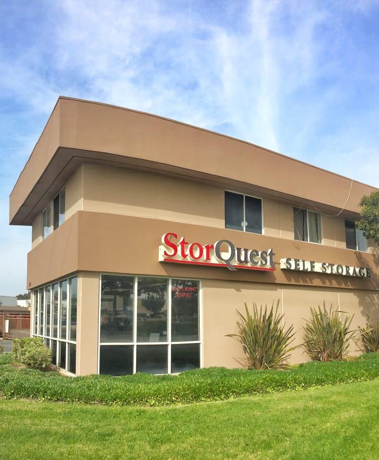 The exterior of StorQuest Self Storage in Oxnard, California