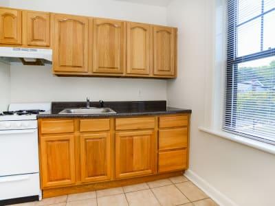 Kitchen at Hillside Gardens Apartment Homes