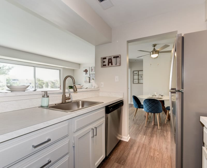 A beautiful spacious kitchen at The Landings I & II Apartments in Alexandria, Virginia