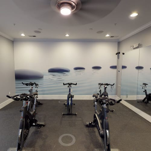 View virtual tour of our spin room in the fitness center at The District in Charlotte, North Carolina