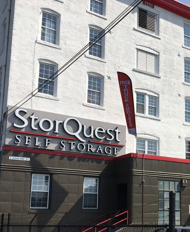 The exterior of StorQuest Self Storage in Port Chester, New York