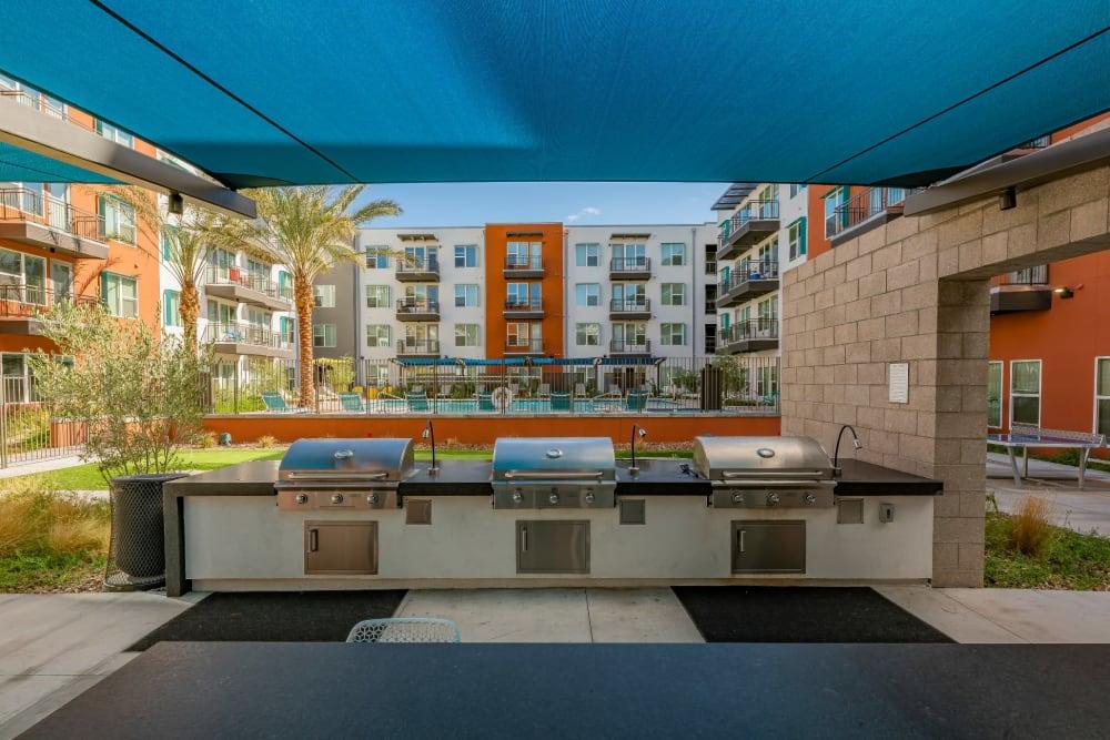 Barbeque area in Encore Tessera's clubhouse in Phoenix, Arizona