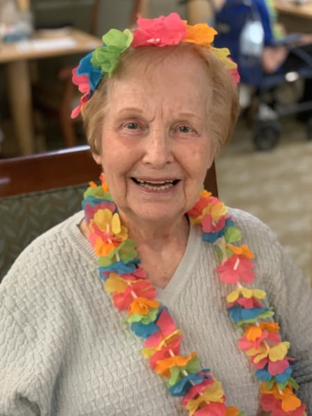 One Willow Glen (CA) resident got on her festive accessories and joined the Luau!