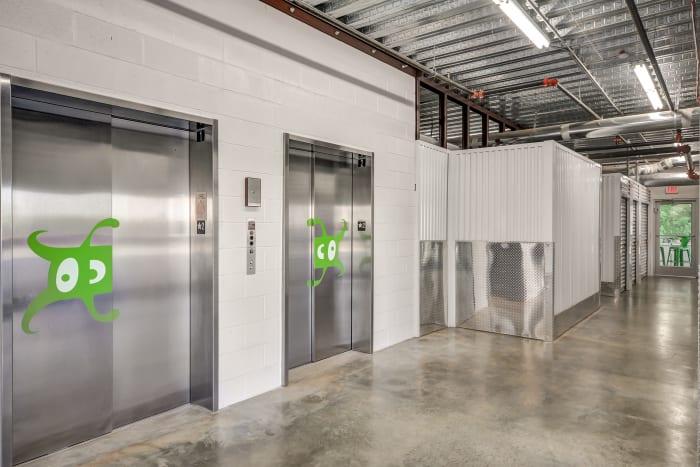 Elevators at Space Shop Self Storage in Atlanta, Georgia