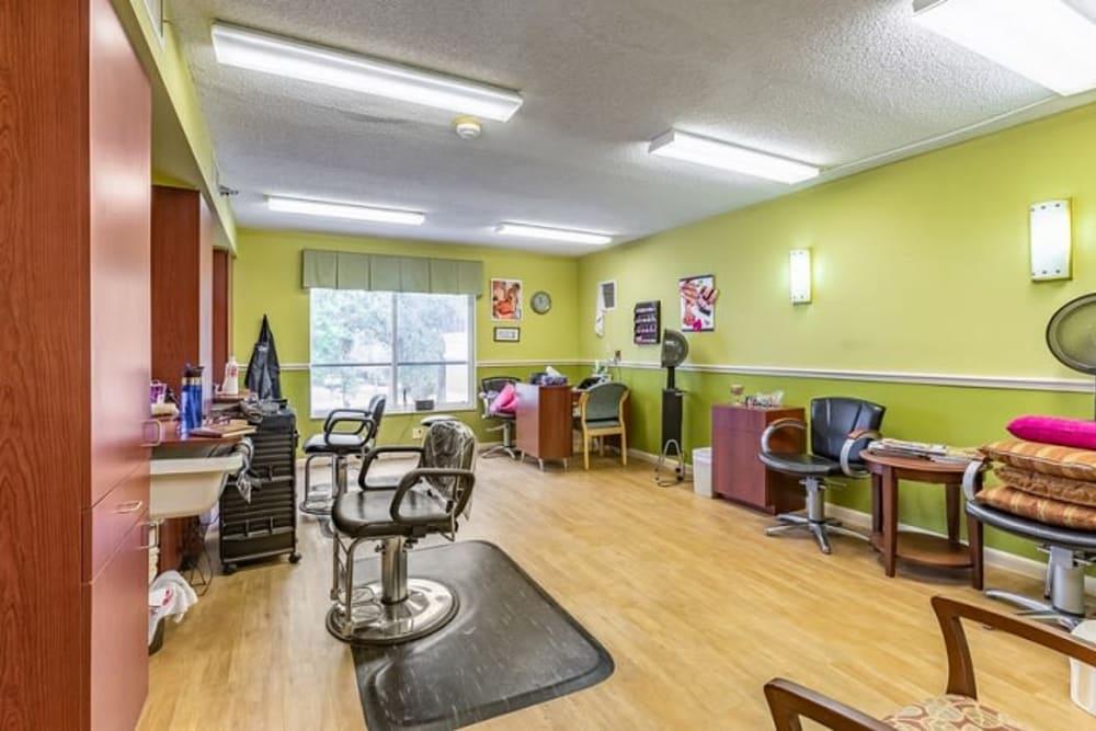 The onsite hair salon at Grand Villa of Sarasota in Sarasota, Florida