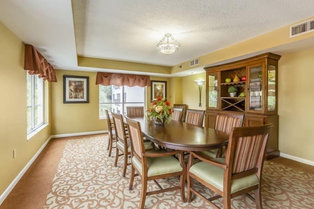 A private dining room at Grand Villa of Sarasota in Sarasota, Florida