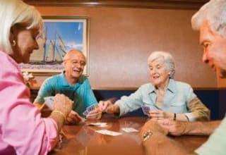 Social card game at South Carolina senior living communities