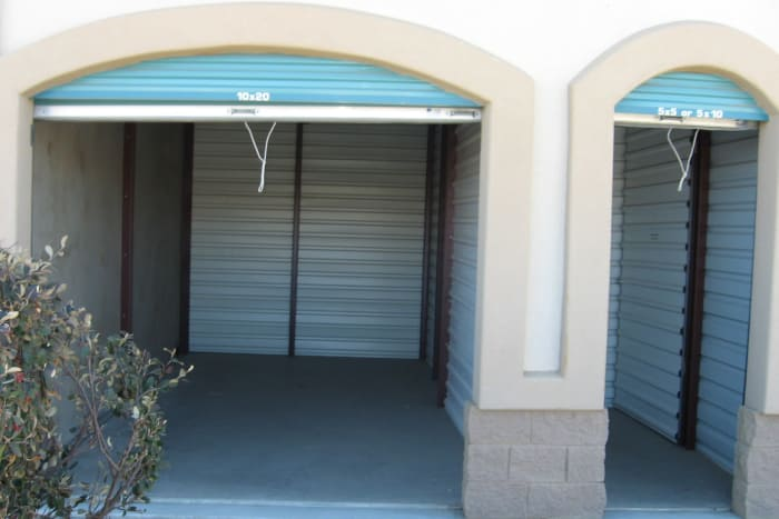 Interior storage units at Budget Mini Storage