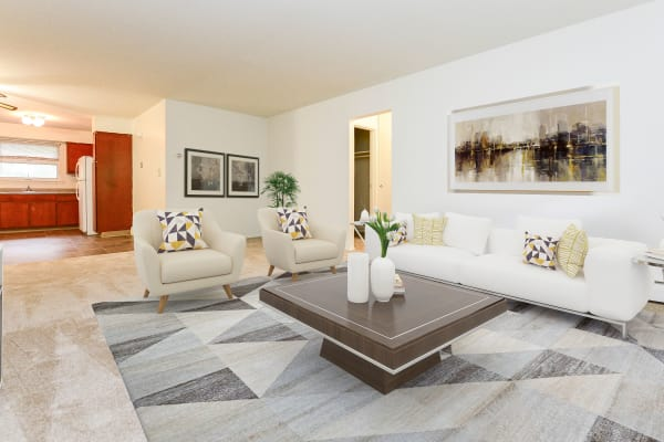 Living room at Lakeview Terrace Apartment Homes