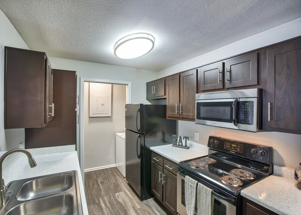 Kitchen at Willow Run Village Apartments in Broomfield Colorado