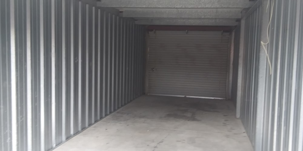 Inside of a storage unit at Secure Storage in Murfreesboro, TN