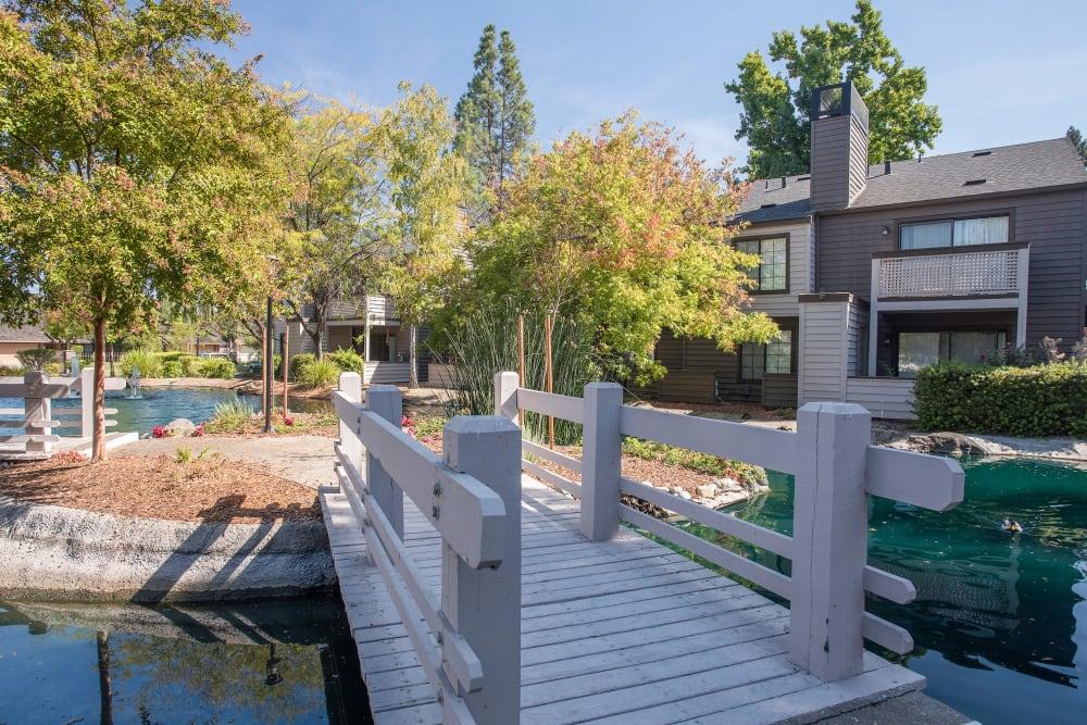 Waterfront properties at Hidden Lake Condominium Rentals in Sacramento, California