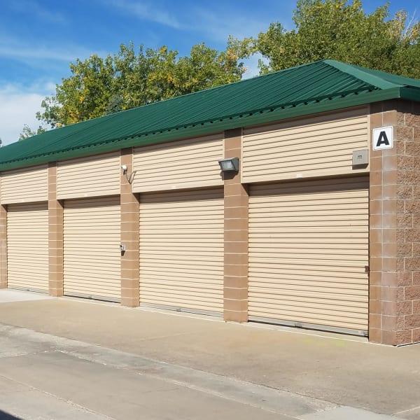 Outdoor storage units at StorQuest Self Storage in Parker, Colorado