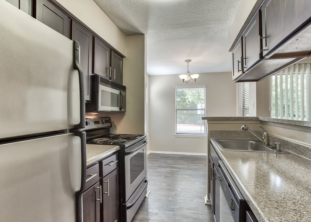 Interior kitchen at Fountains at Steeplechase Apartments