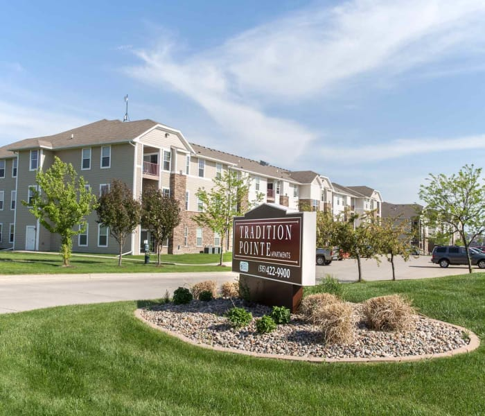 Signage and branding at Tradition Pointe in Ankeny, Iowa